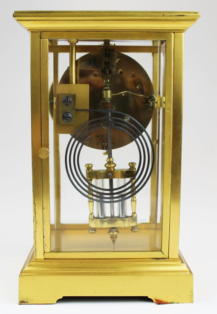 ca 1900 Tiffany & Co French gilt brass clock - 5