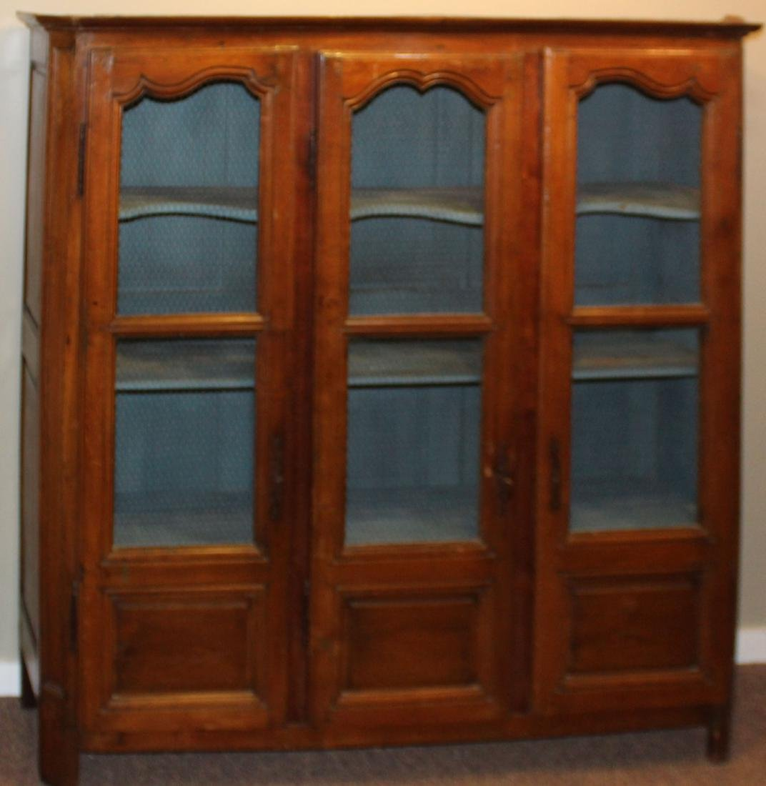French carved pie cupboard