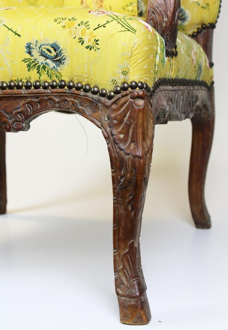 18th c Louis XV walnut arm chair - 4