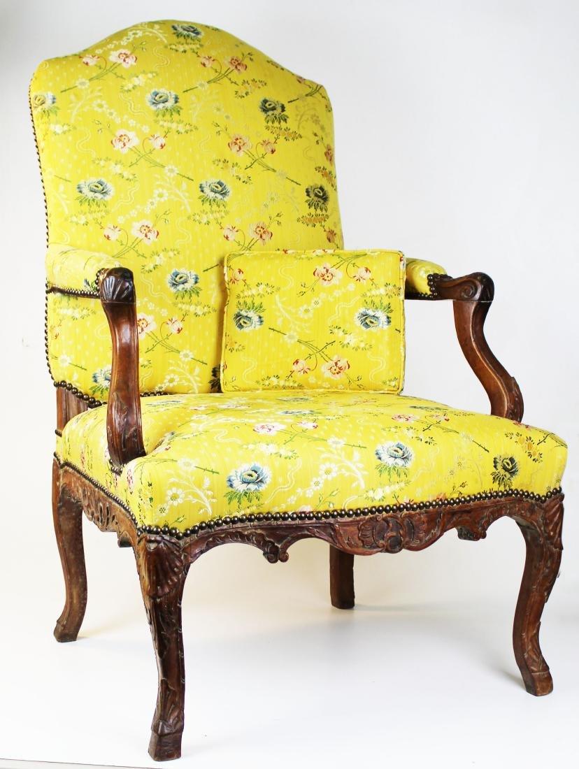 18th c Louis XV walnut arm chair - 5