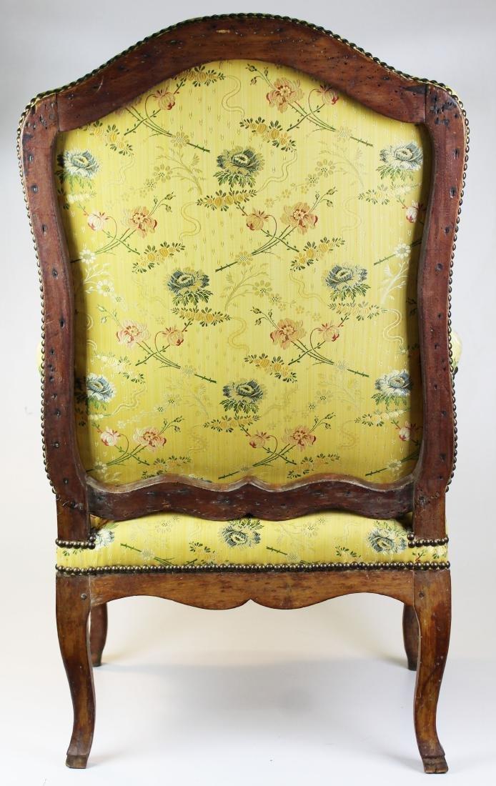 18th c Louis XV walnut arm chair - 8