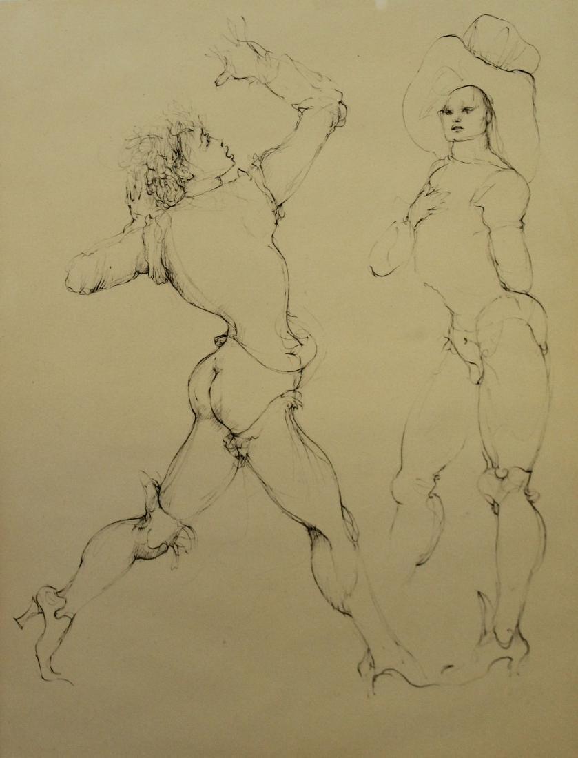 Leonor Fini (1907-1996) Two figures