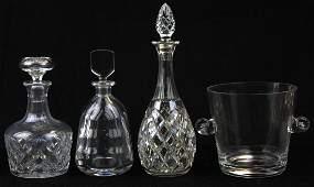 4 pcs. Crystal barware incl. Orrefors, Tiffany