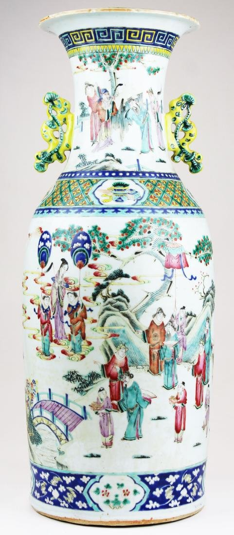 early 19th c Chinese rose medallion vase