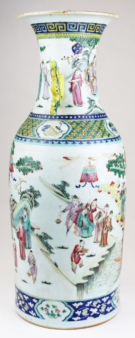 early 19th c Chinese rose medallion vase - 4