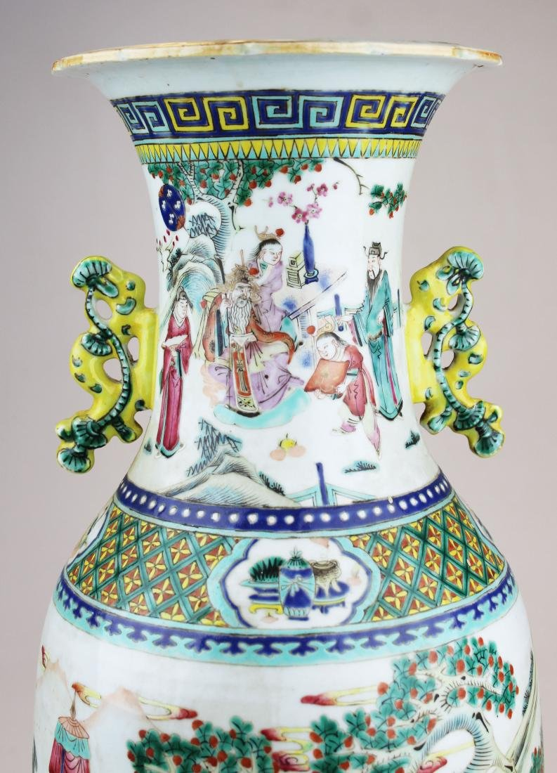 early 19th c Chinese rose medallion vase - 5