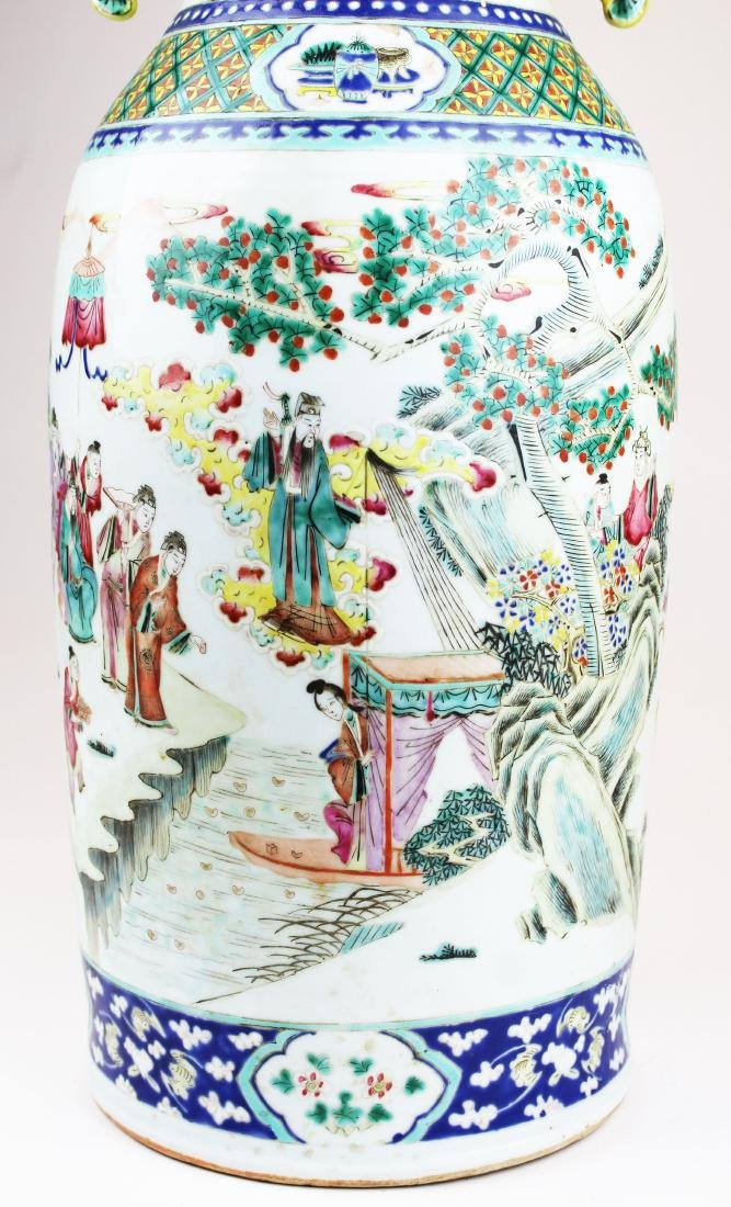 early 19th c Chinese rose medallion vase - 6