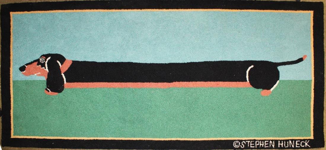 Stephen Huneck design hooked rug