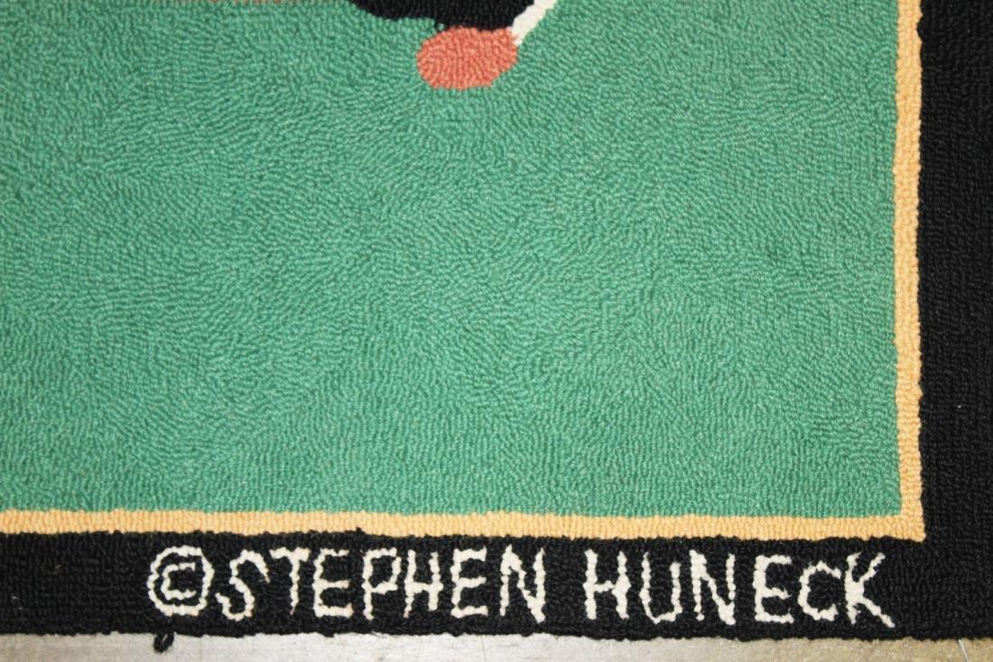 Stephen Huneck design hooked rug - 3