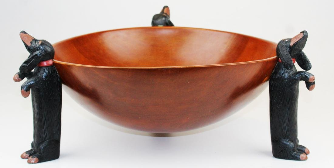 Stephen Huneck design wooden bowl