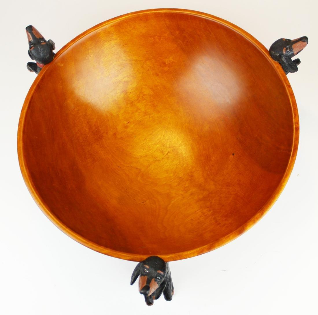 Stephen Huneck design wooden bowl - 3