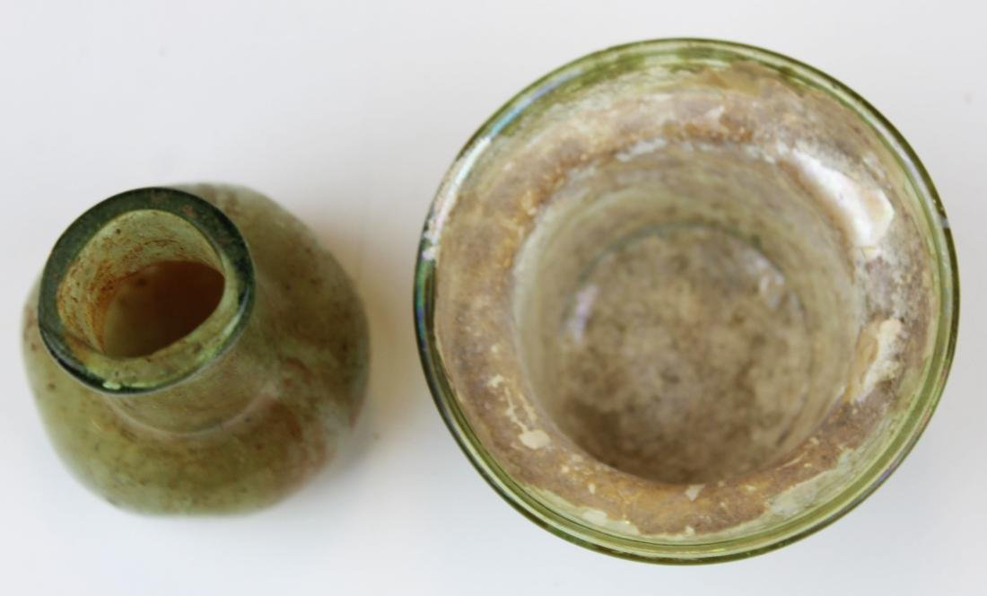 2 Roman glass vessels - 6