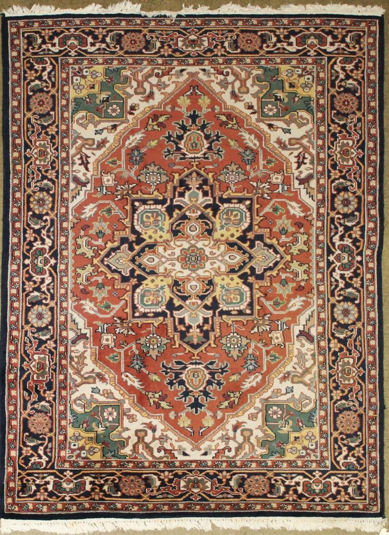late 20th c Persian Heriz pattern main carpet