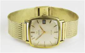 14k gold mens Omega automatic wrist watch