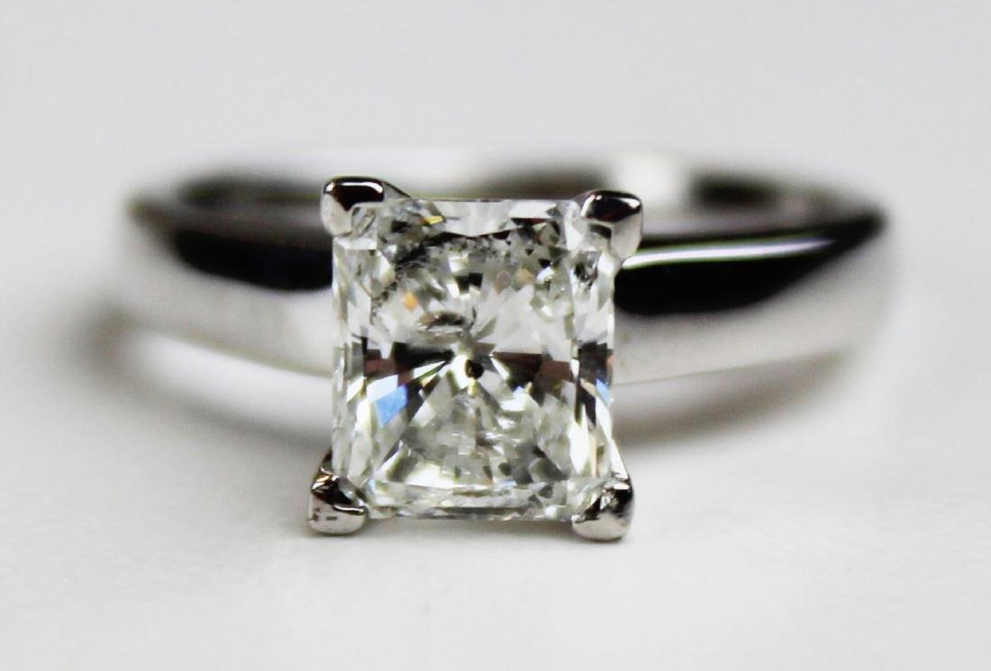1.4 ct Platinum and diamond engagement ring