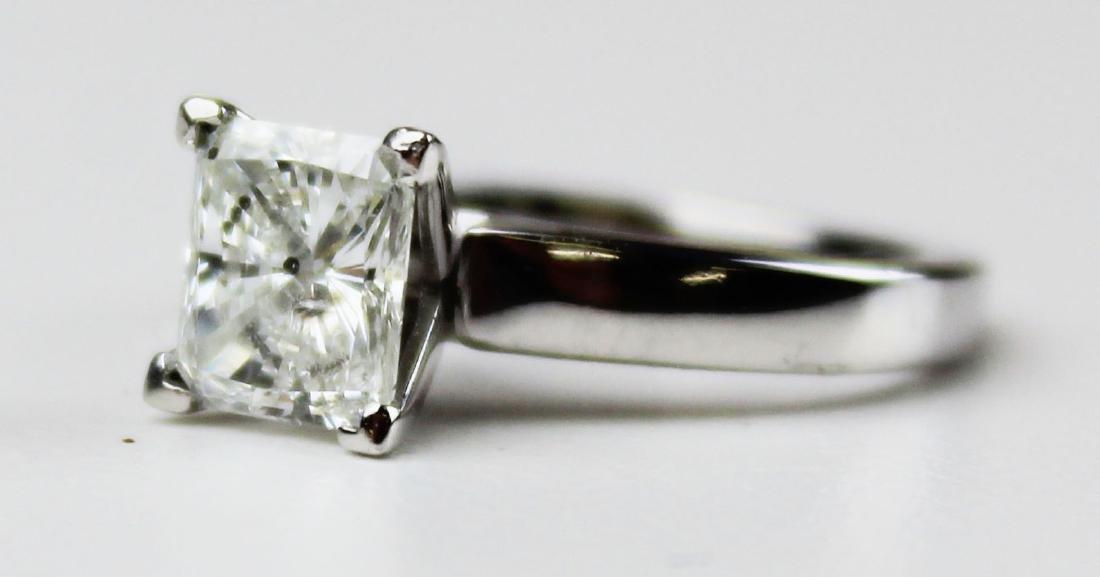 1.4 ct Platinum and diamond engagement ring - 6