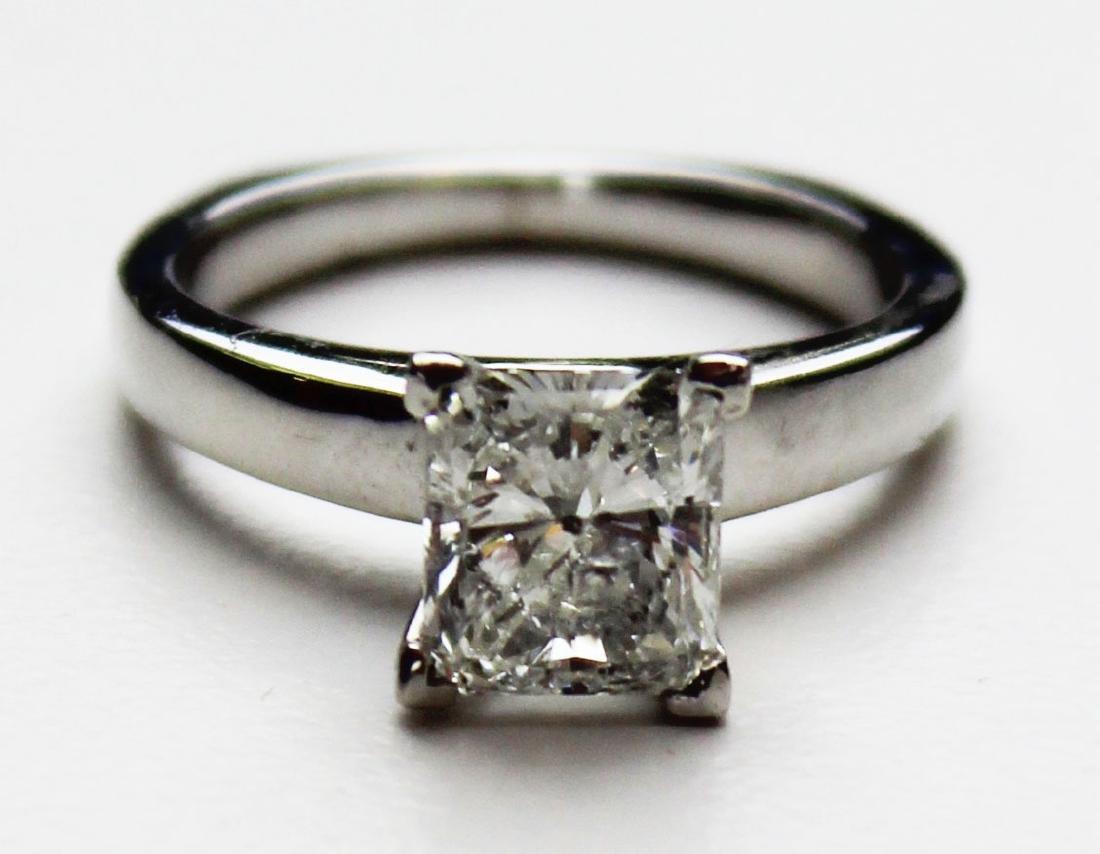 1.4 ct Platinum and diamond engagement ring - 7