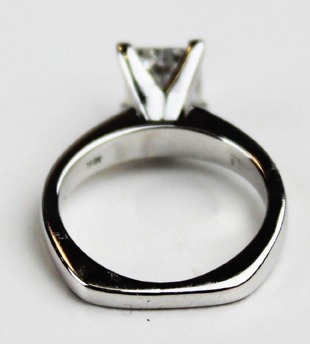 1.4 ct Platinum and diamond engagement ring - 8