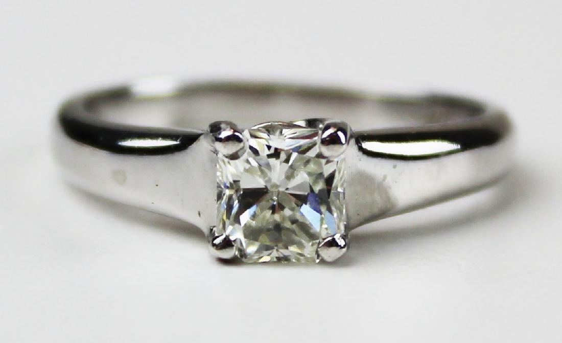 1 ct platinum and diamond engagement ring