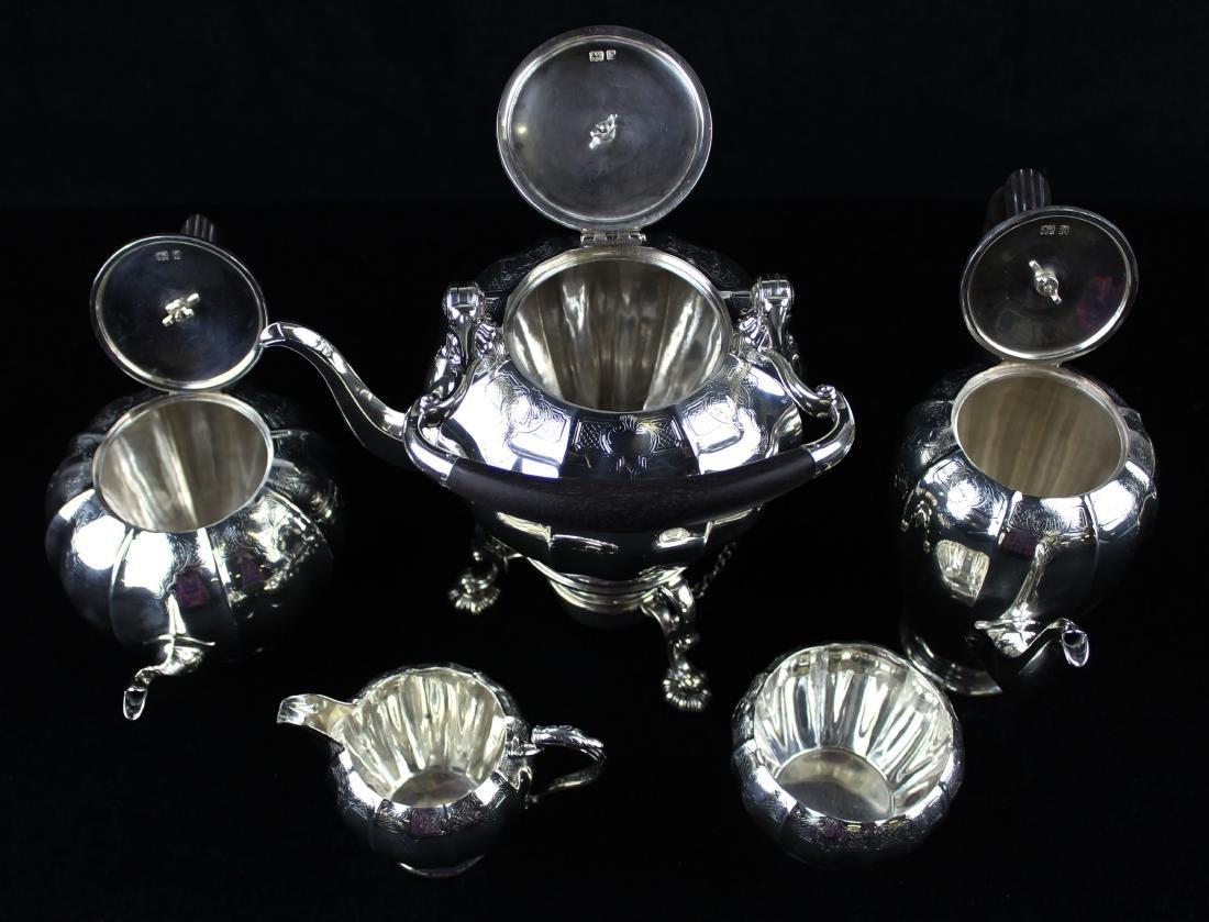 5 pc. 1921 Adie Bros. London sterling tea service - 10