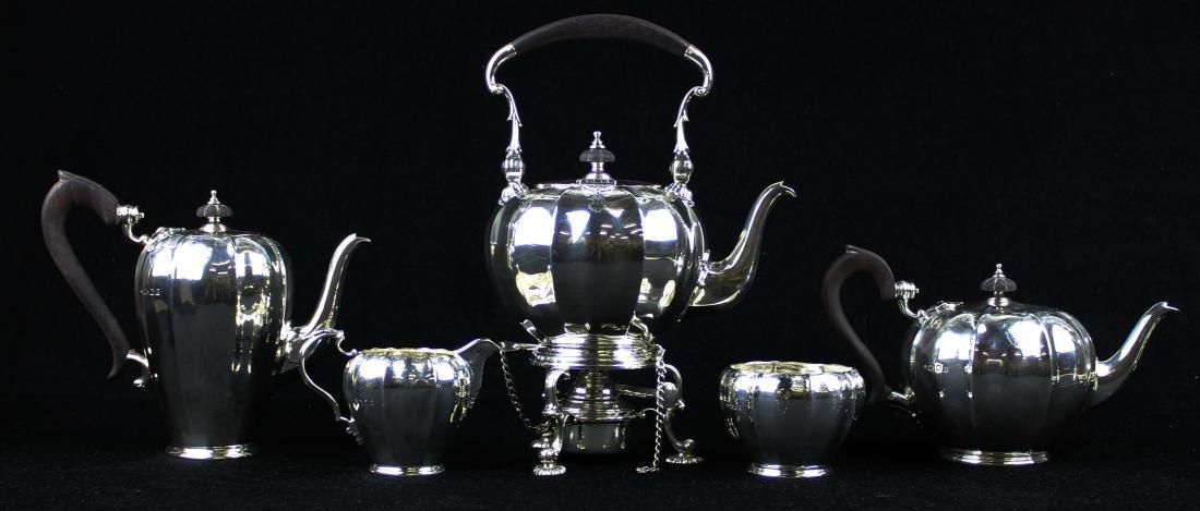 5 pc. 1921 Adie Bros. London sterling tea service