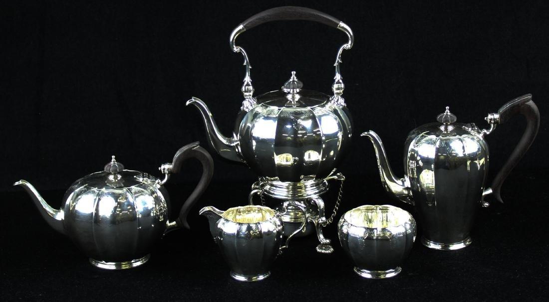 5 pc. 1921 Adie Bros. London sterling tea service - 2