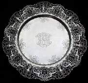 ornate Gorham sterling silver reticulated platter