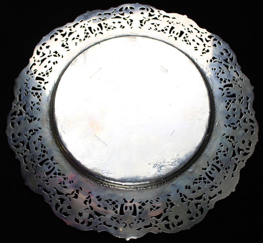 ornate Gorham sterling silver reticulated platter - 4