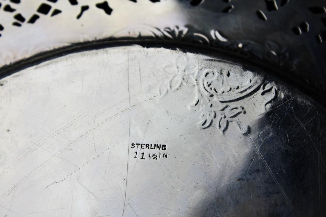 ornate Gorham sterling silver reticulated platter - 5