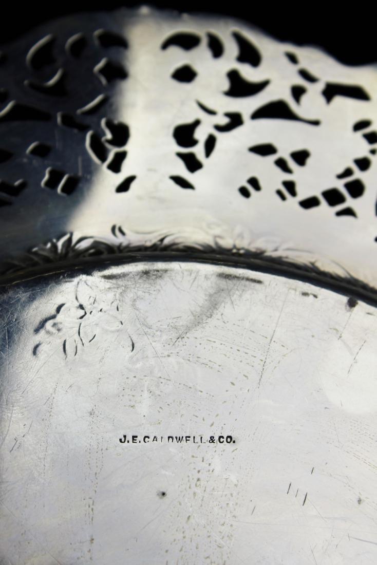 ornate Gorham sterling silver reticulated platter - 6
