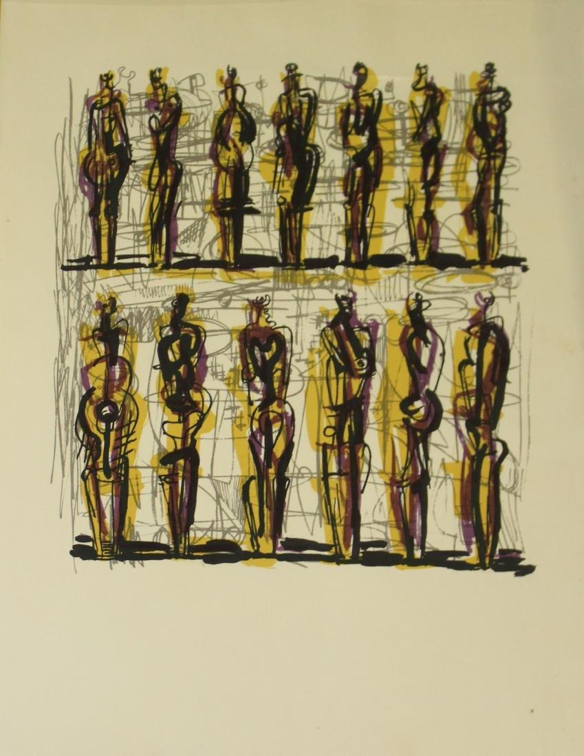 Henry Moore (1898-1986) Thirteen Standing Figures