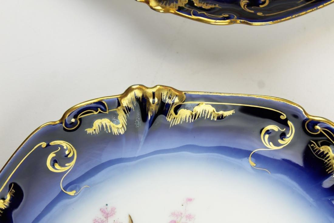 9 Lewis Straus & Sons Limoges cobalt fish plates - 7