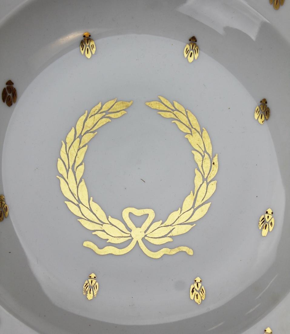 12 gilt Saxe Austrian porcelain soup plates - 3