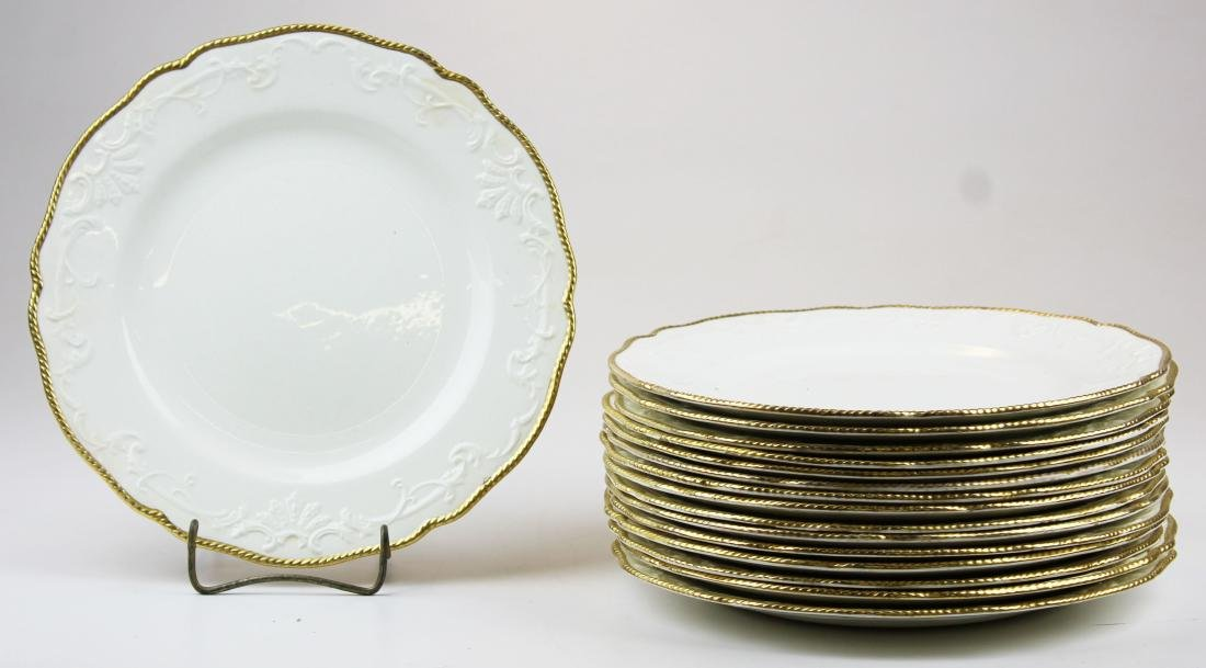 16 Copeland Spode creamware style dinner plates