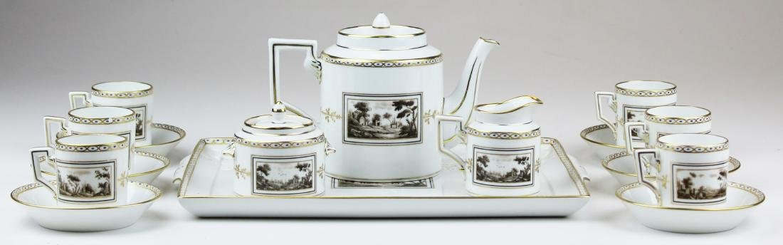 Richard Ginori Pittoria porcelain coffee service