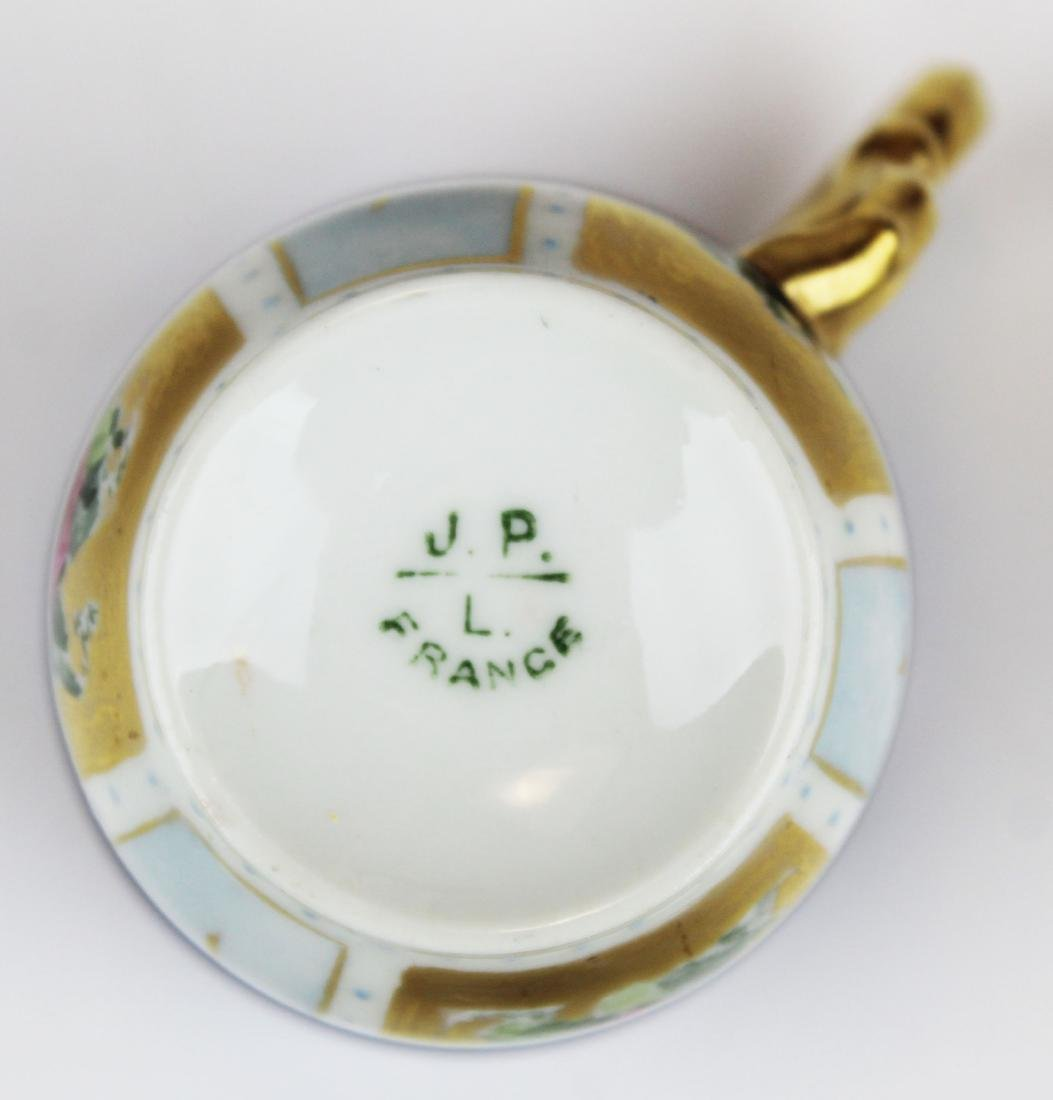 Jean Pouyat Limoges porcelain chocolate set - 7