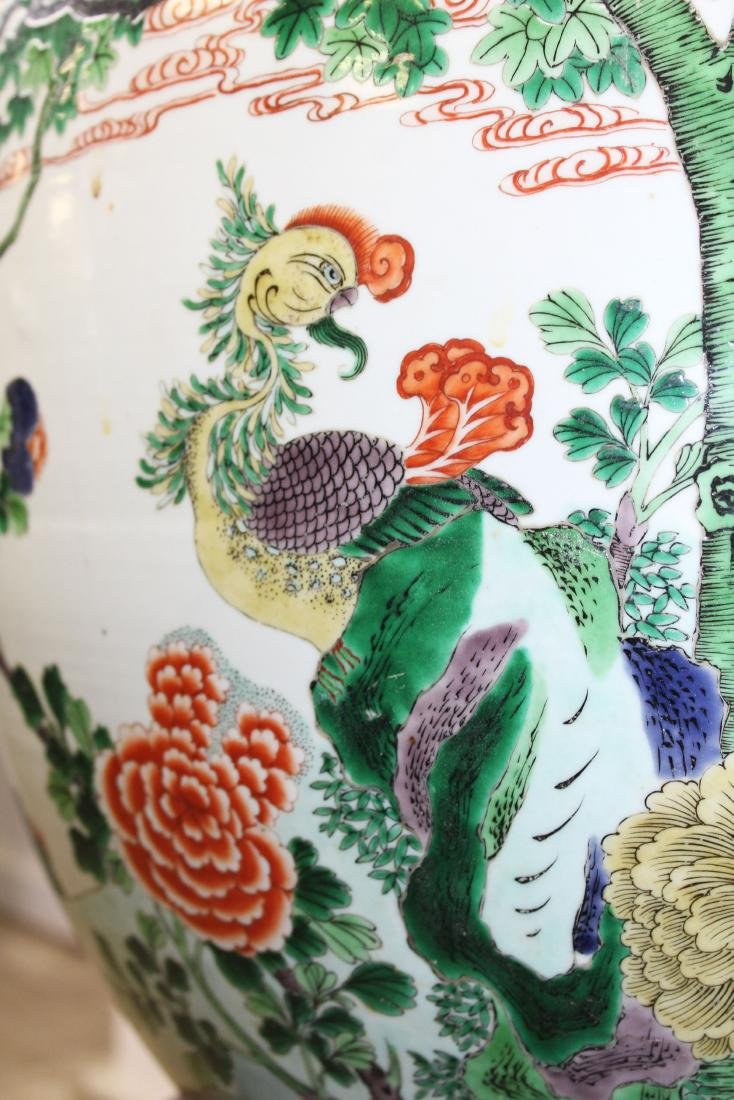 late 20th c Chinese Famille verte fish bowl - 9