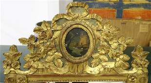 19th c French carved  gilt wood mirror