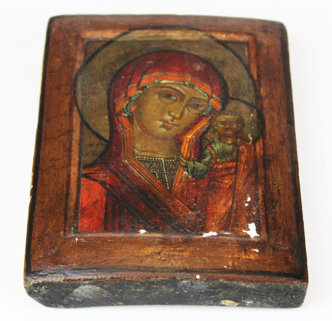 17th/ 18th  Russian icon on wood panel - 2