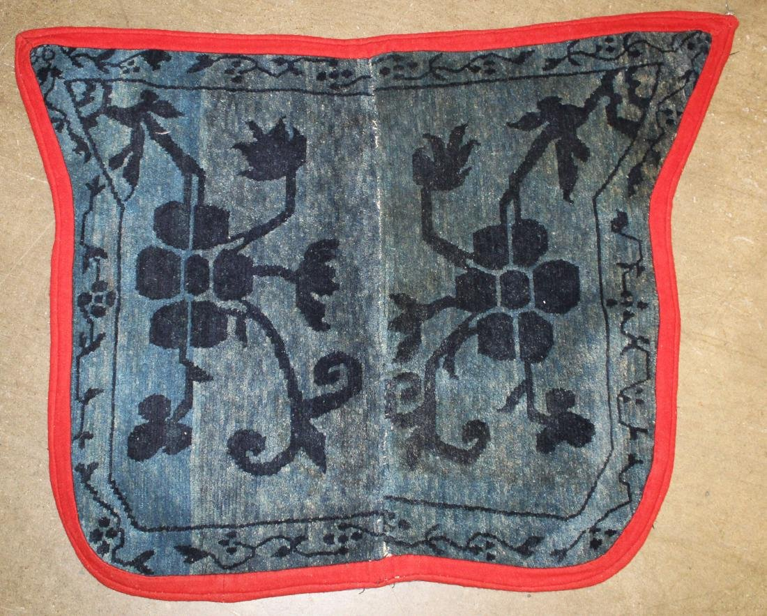 mid 20th c Tibetan butterfly saddle blanket