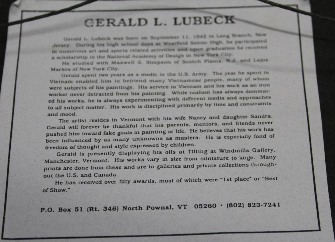 Gerald L Lubeck (VT 1942-) Landscape - 3