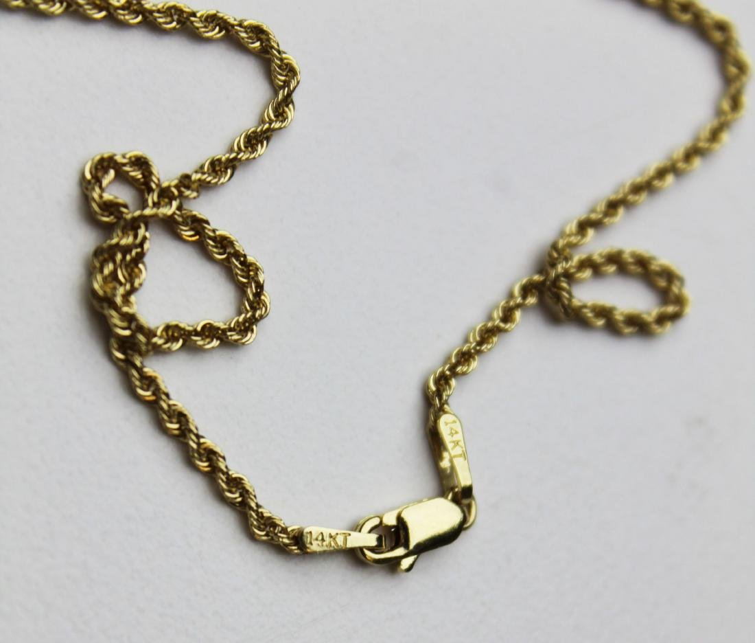 14k yellow gold, diamond, & sapphire pendant - 5