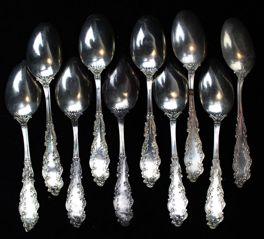 10 Gorham Luxembourg sterling silver teaspoons - 3