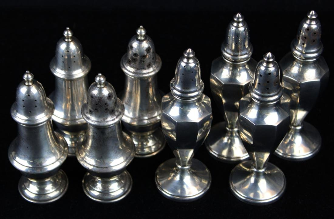 8 sterling silver salt and pepper shakers - 4