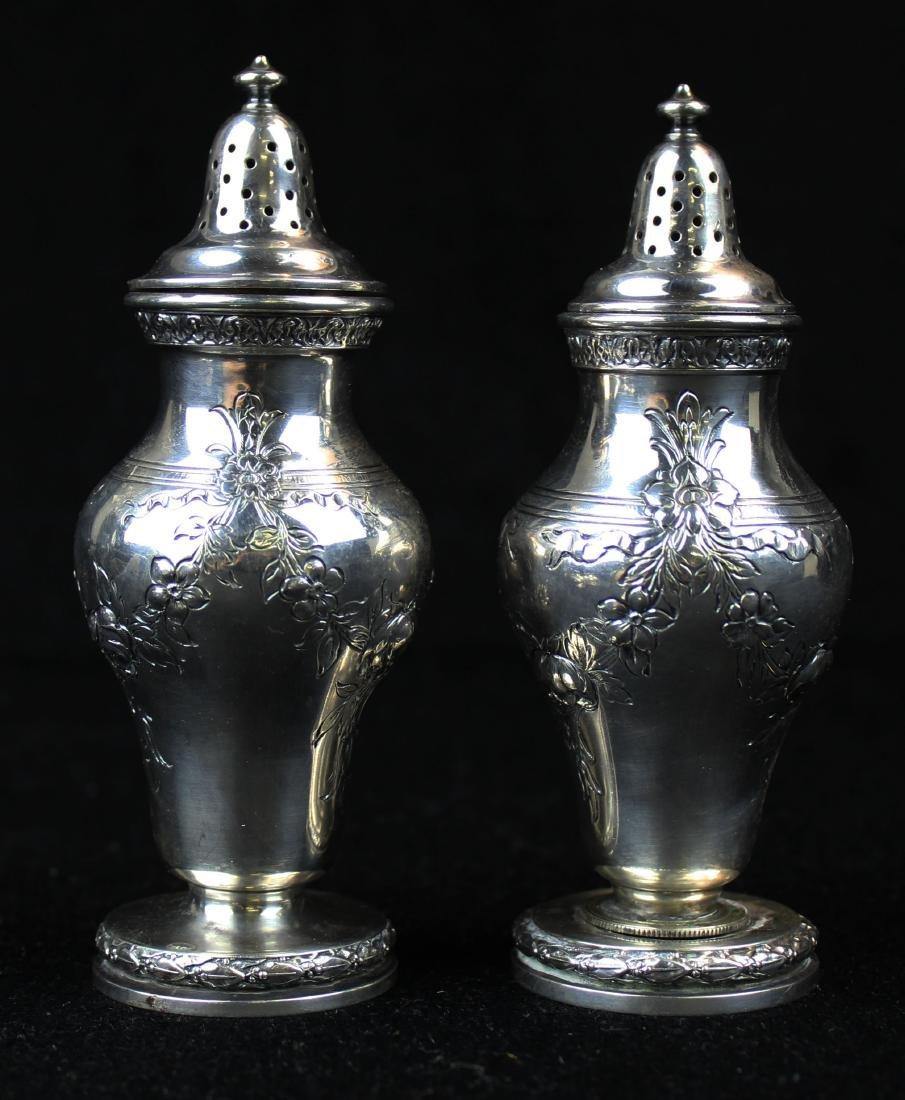 Gorham sterling pepper pots and salt cellars - 3