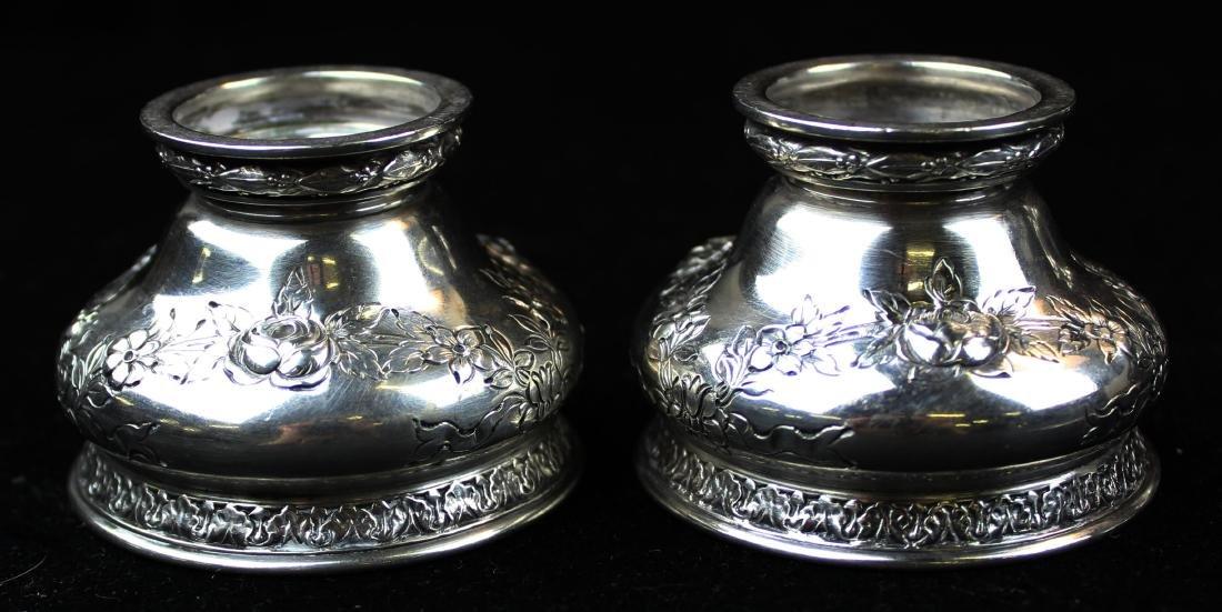 Gorham sterling pepper pots and salt cellars - 4