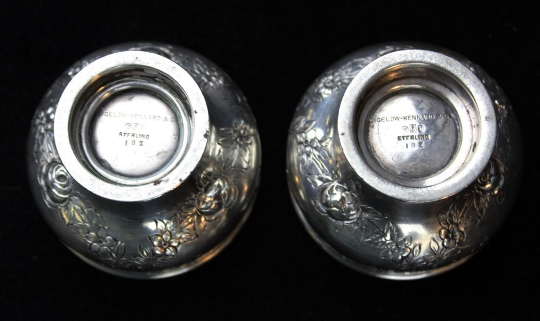 Gorham sterling pepper pots and salt cellars - 5