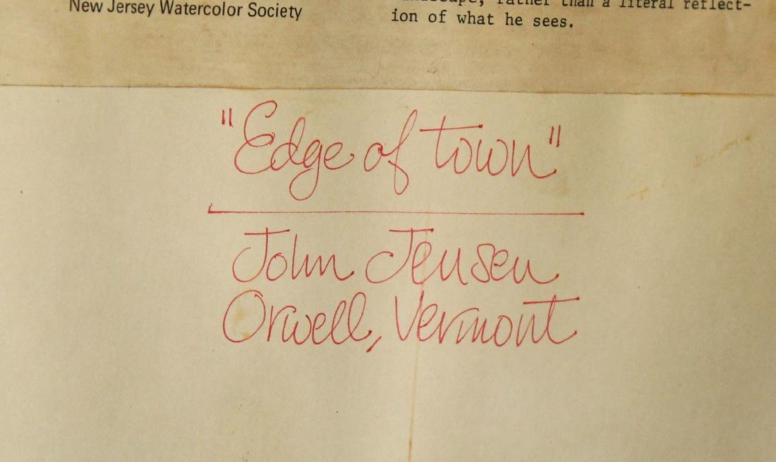 John Jensen (VT 20th c) At the Edge of Town - 4