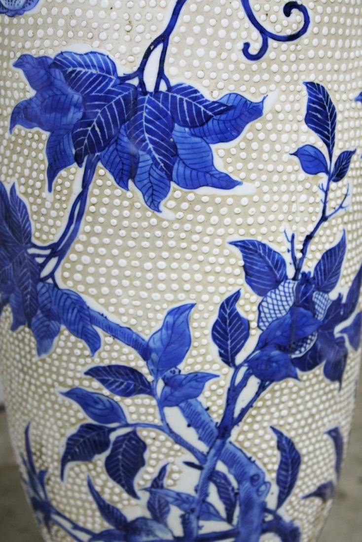 mid 20th c Japanese moriage type vase/ lamps - 3