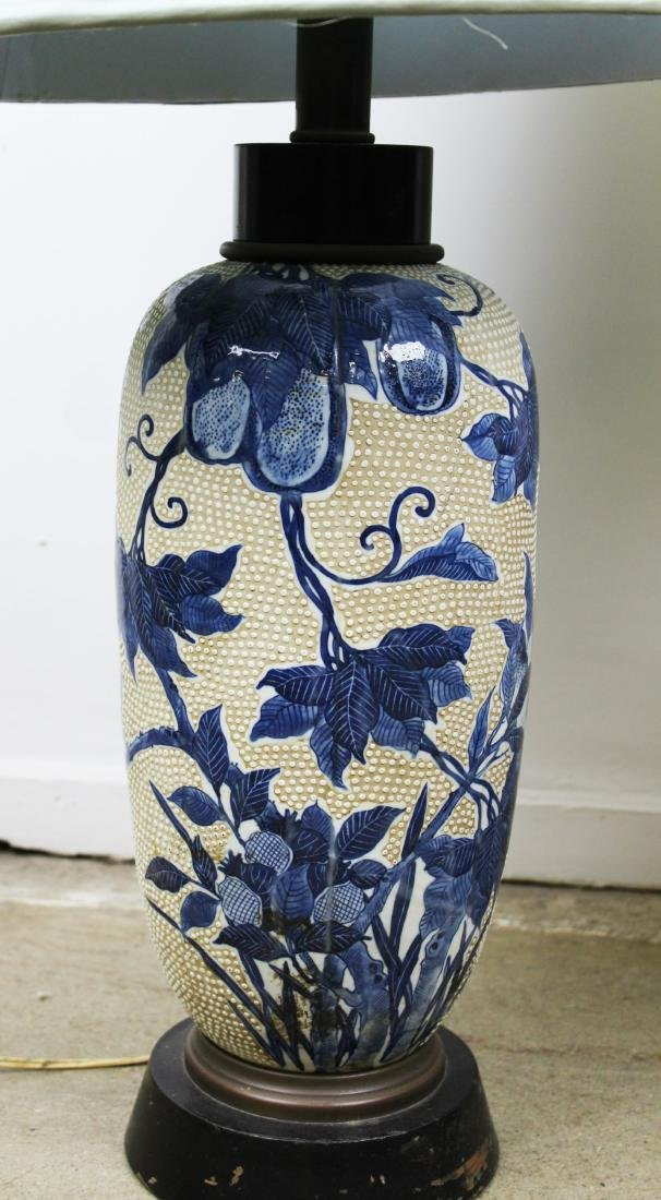 mid 20th c Japanese moriage type vase/ lamps - 5